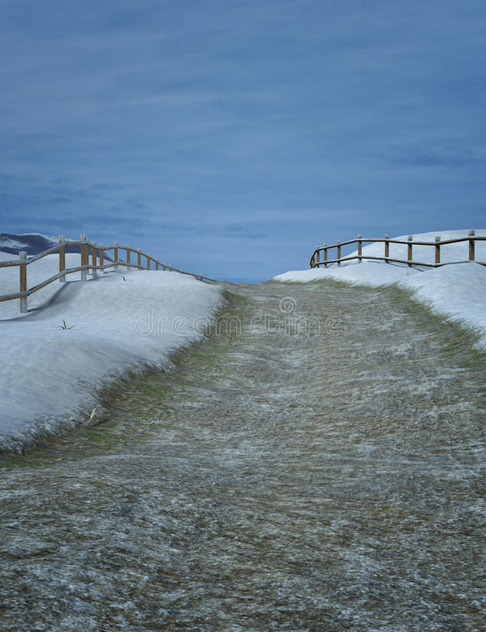 Paysage d'hiver d'imagination photos libres de droits