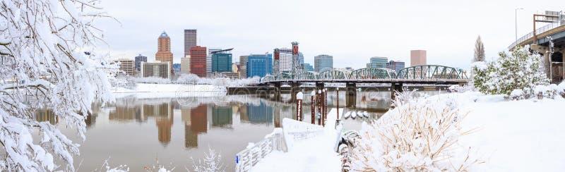 Paysage d'hiver de Portland Orégon photos stock