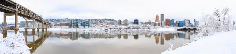 Paysage d'hiver de Portland Orégon image libre de droits