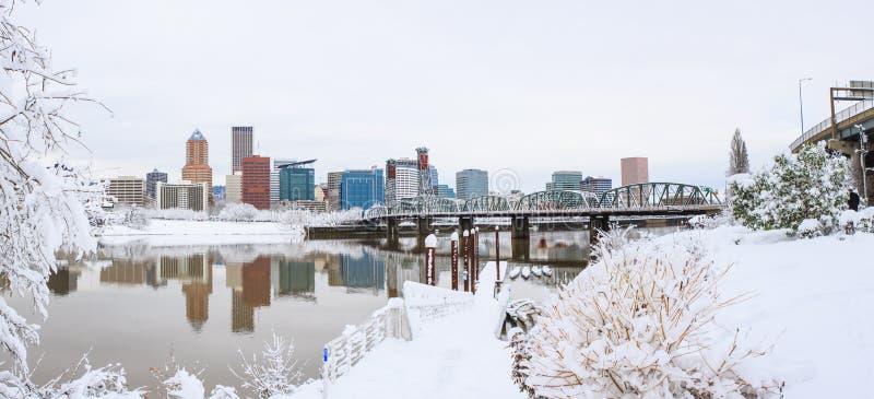 Paysage d'hiver de Portland Orégon images stock