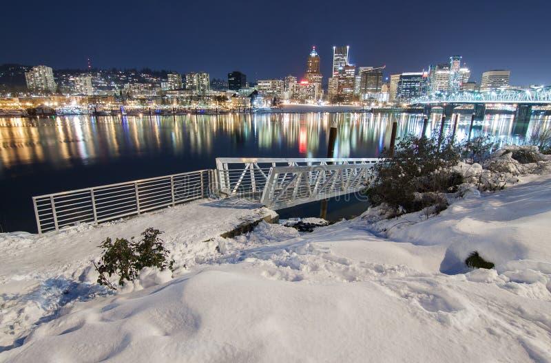 Paysage d'hiver de Portland Orégon image stock