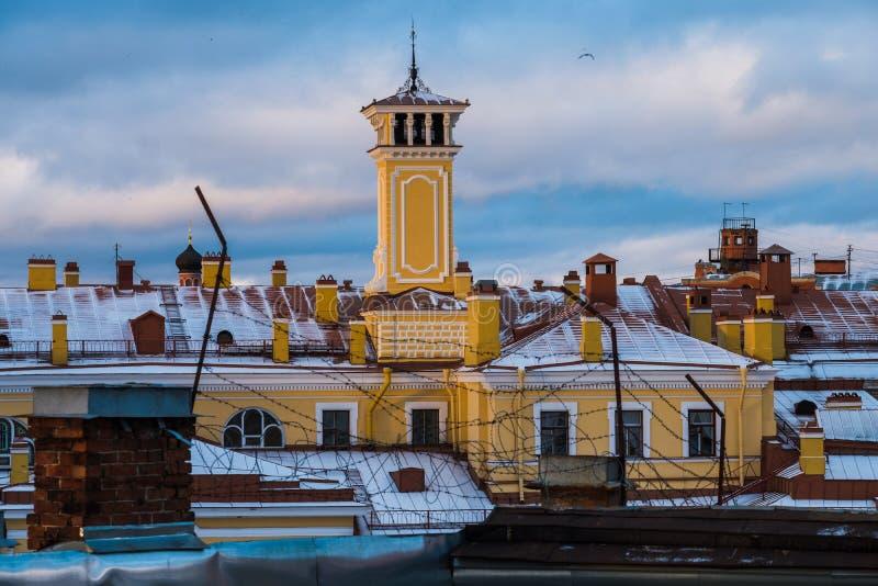 Paysage d'hiver de Sankt-Peterburg photographie stock libre de droits