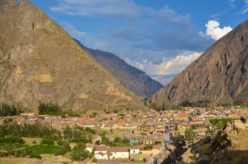 Paysage d'Ollantaytambo Pérou images libres de droits