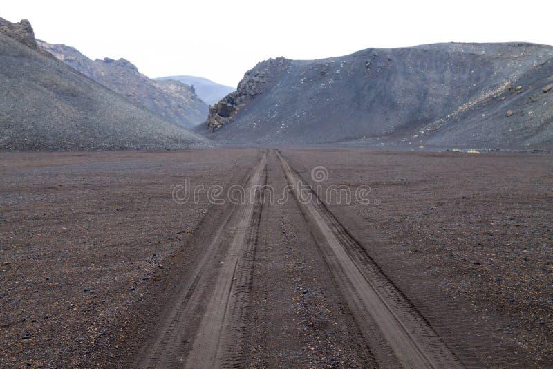 Paysage d?sol? de secteur de caldeira d'Askja, Islande photos stock