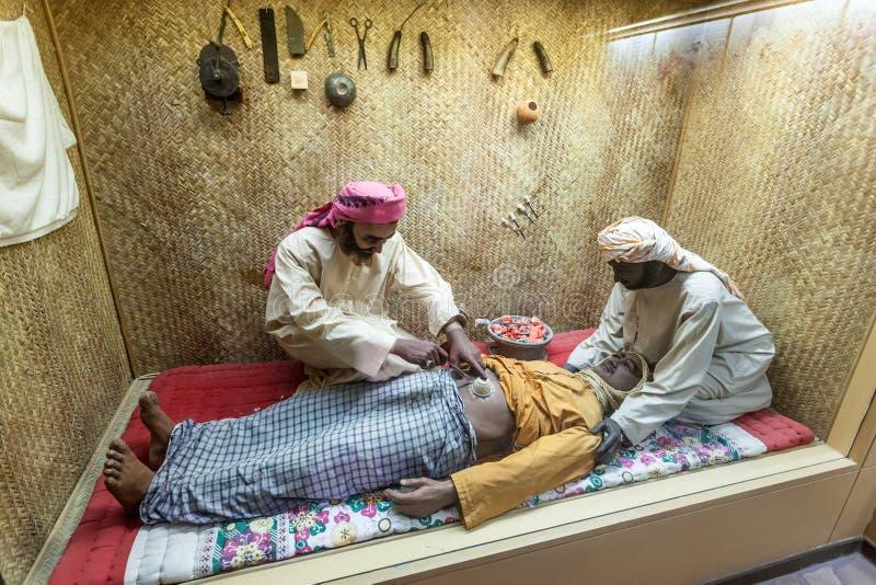 Paysage d'un hôpital bédouin photo stock