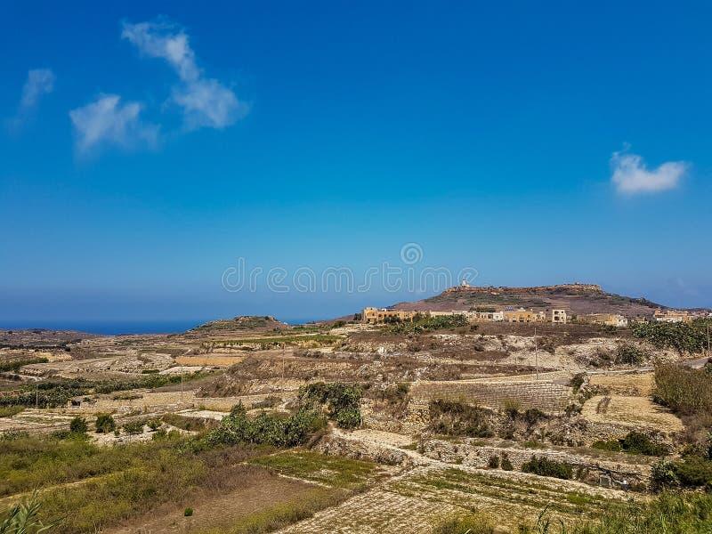 Paysage dans Gozo photographie stock libre de droits