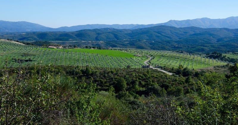 Paysage dans les montagnes de Pyrénées photos libres de droits