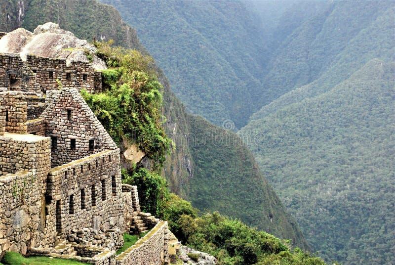 Paysage dans Machu Picchu au Pérou photo stock