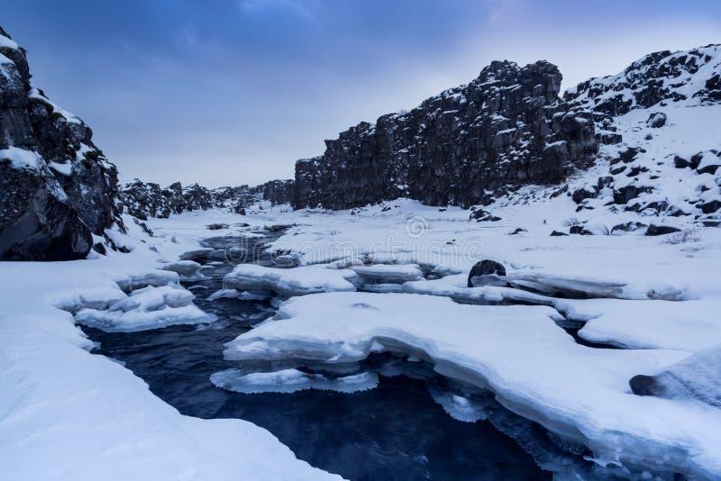 Paysage dans Thingvellir, Islande photo libre de droits