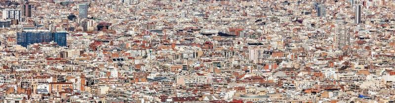 Paysage de bâtiments de Barcelone photographie stock libre de droits