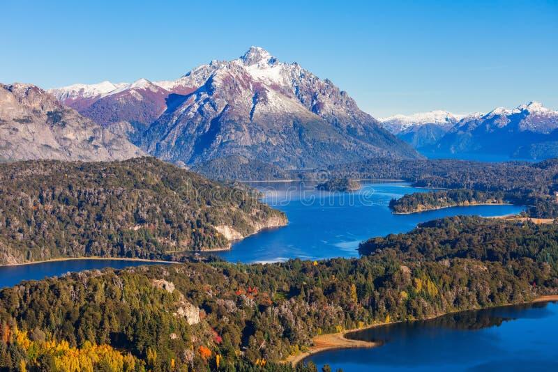Paysage de Bariloche en Argentine images libres de droits