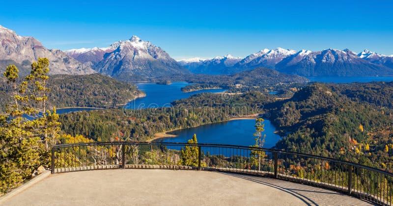 Paysage de Bariloche en Argentine image stock