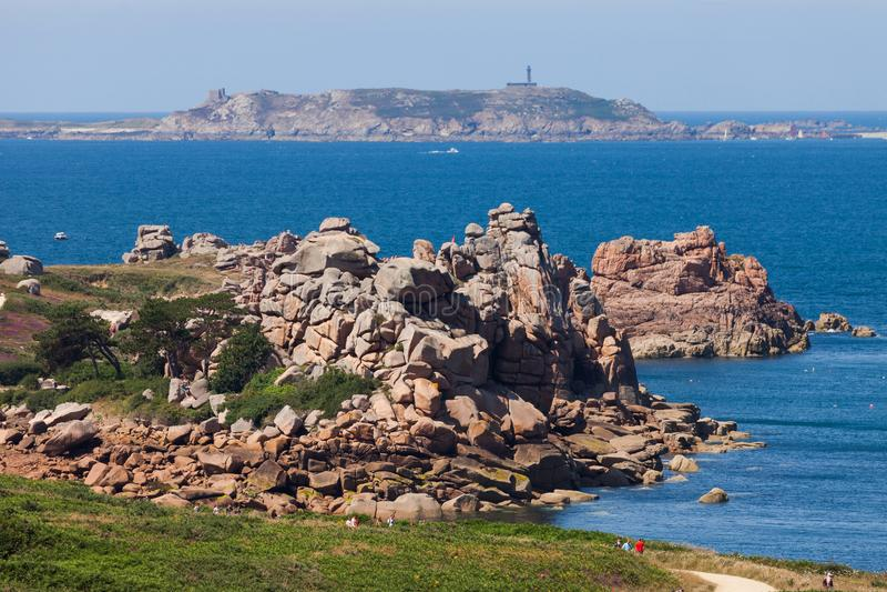 Paysage de bord de la mer de la Bretagne, France photo stock