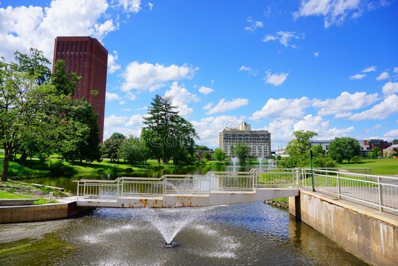 Paysage de campus images stock