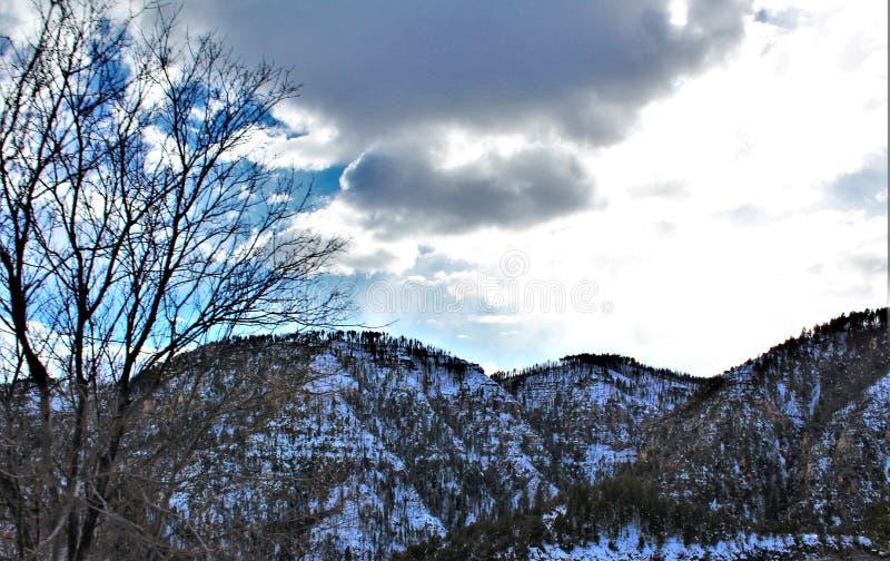 Paysage de paysage, canyon du comté de Maricopa, Oak Creek, Arizona, Etats-Unis photographie stock