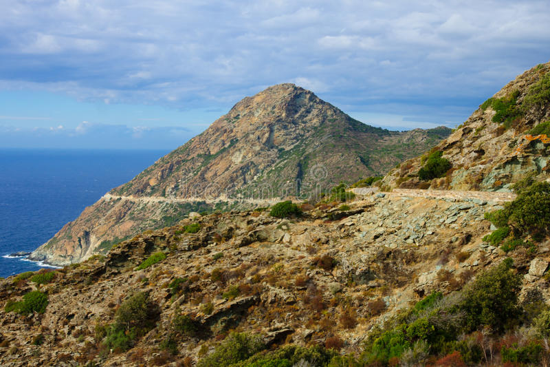 Paysage de Cap Corse images libres de droits