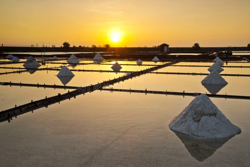 Paysage de casserole de sel de Taïwan photo stock