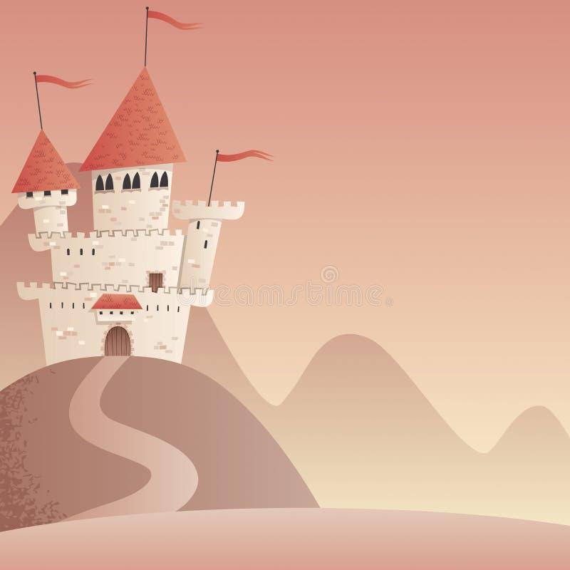 Paysage 2 de château illustration libre de droits