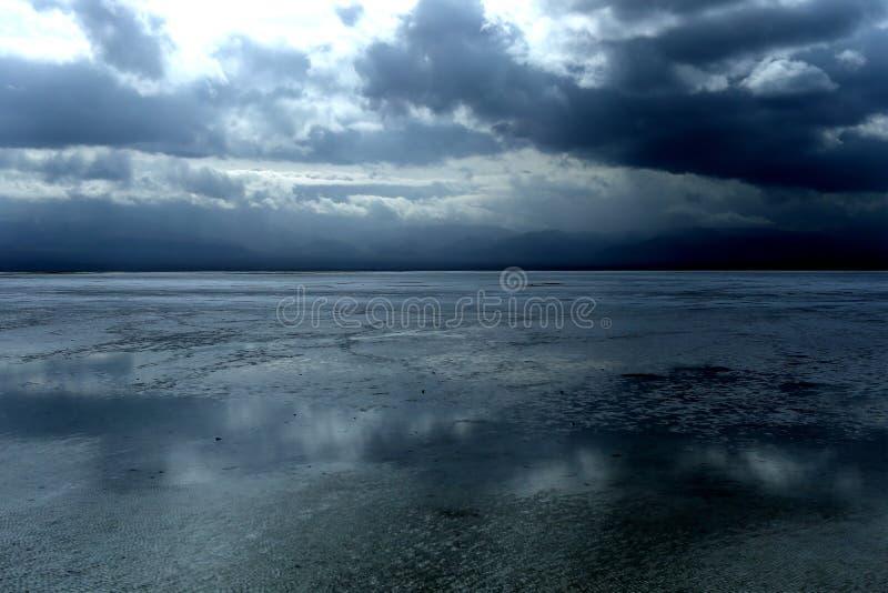 Paysage de Chaka Salt Lake photographie stock libre de droits