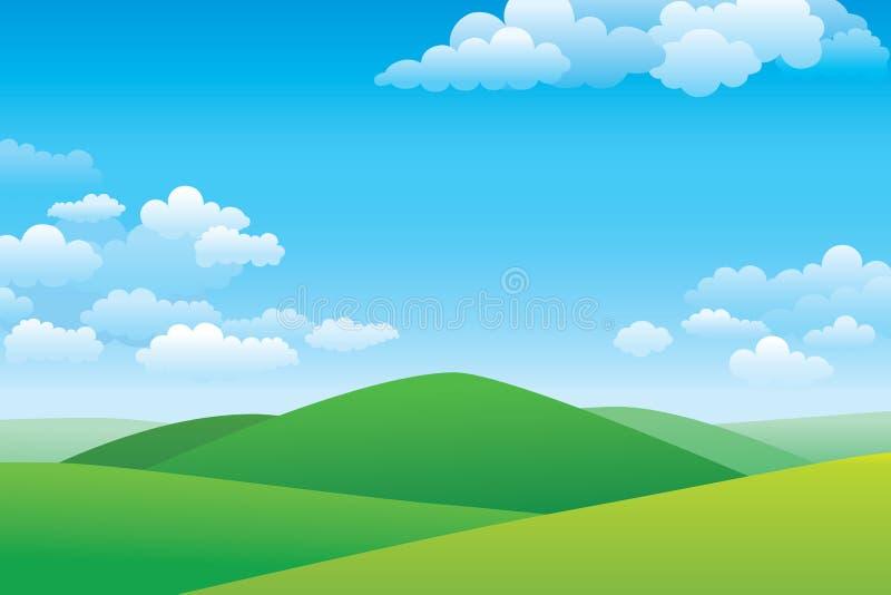 Paysage de colline verte