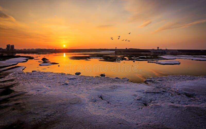 Paysage de coucher du soleil photo libre de droits