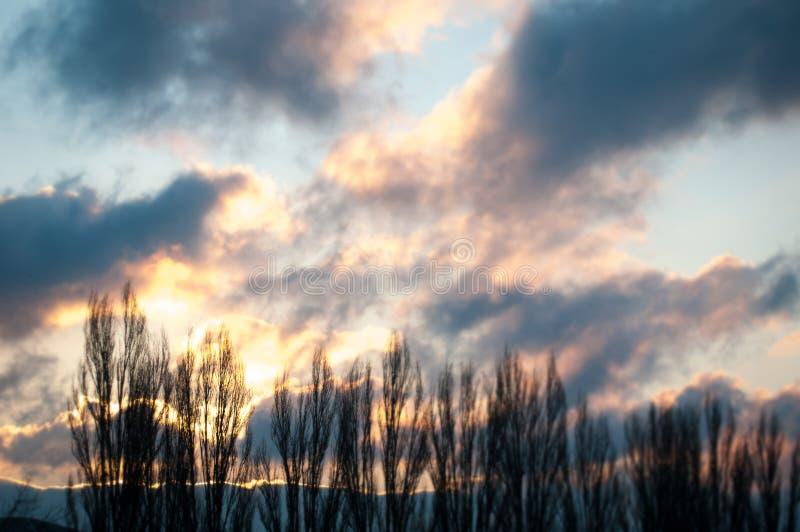 Paysage de coucher du soleil image libre de droits