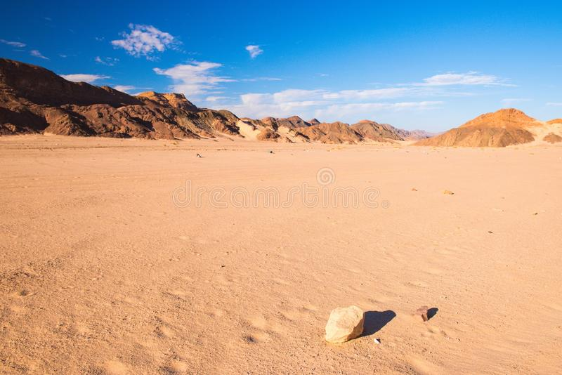 Paysage de désert de Sinai photos libres de droits