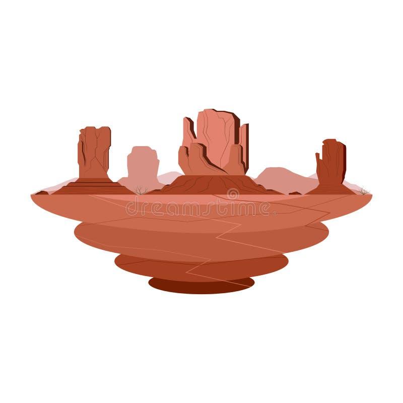Paysage de désert de montagne de grès de vallée de monument illustration libre de droits