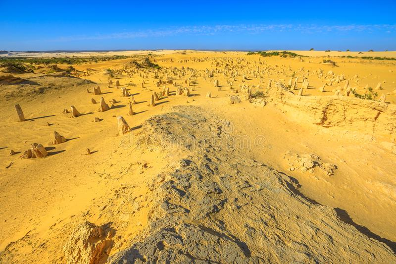 Paysage de désert de sommets photo stock