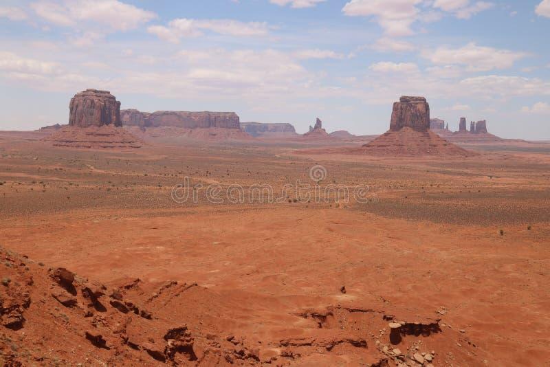 Paysage de d?sert en Arizona, vall?e de monument Color?, tourisme photos libres de droits