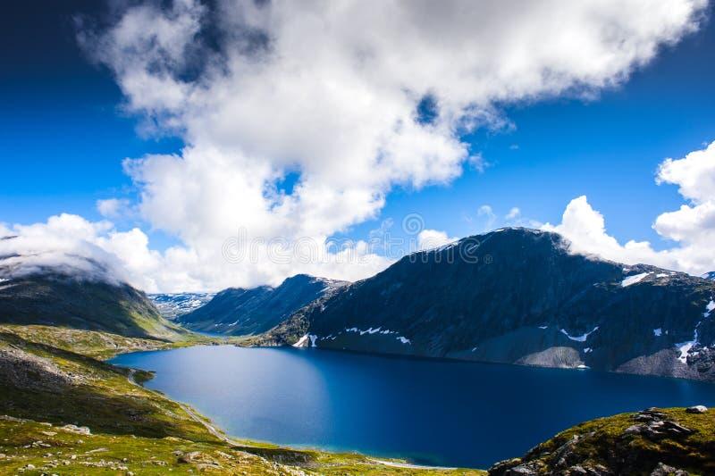 Paysage de Dalsnibba de montagne dans Geiranger, Norvège images stock