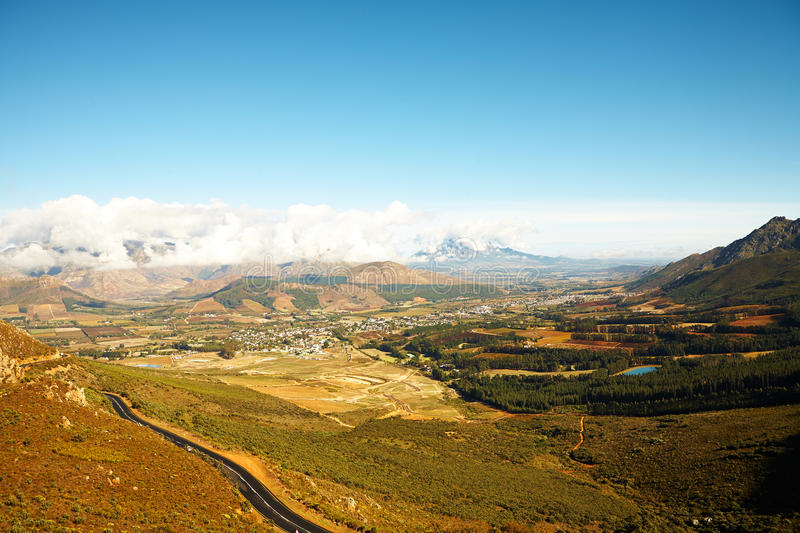 Paysage de Franschhoek photos stock