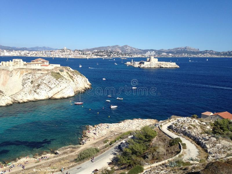 Paysage de frioul de Marseille photos libres de droits