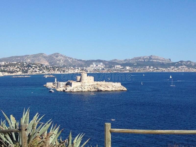 Paysage de frioul de Marseille image libre de droits