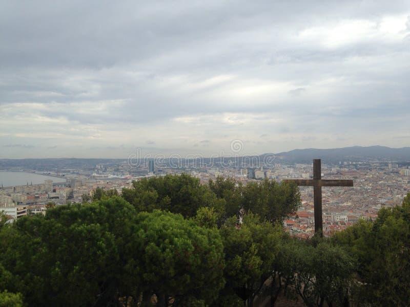 Paysage de frioul de Marseille image stock