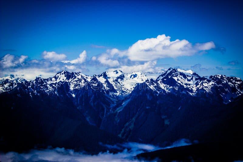 Paysage de gamme de montagne de Ridge d'ouragan en parc national olympique images libres de droits
