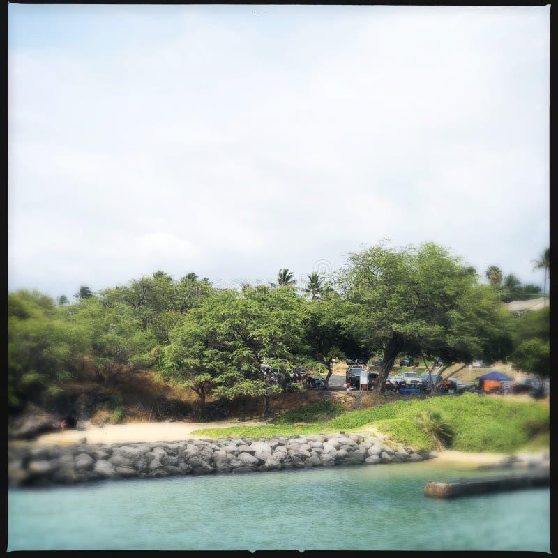Paysage de Kihei photo stock