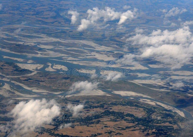 Paysage de l'avion photo libre de droits