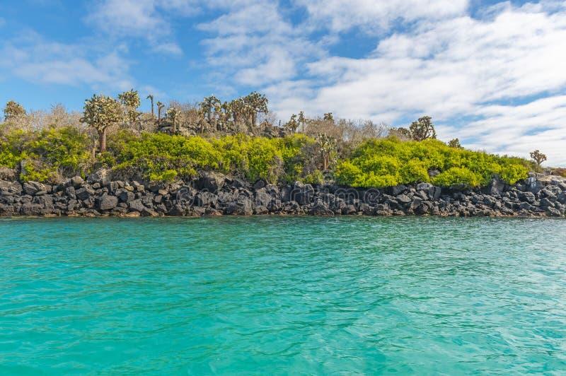 Paysage de l'eau de turquoise d'îles de Galapagos, Equateur image stock