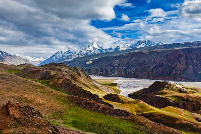 Paysage de l'Himalaya en Himalaya, Himachal Pradesh, Inde photos libres de droits