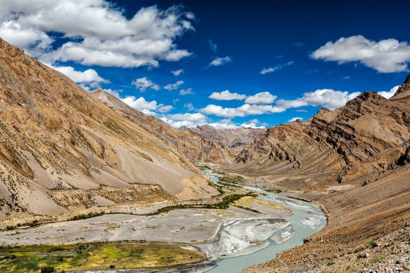 Paysage de l'Himalaya, Ladakh, Inde images libres de droits