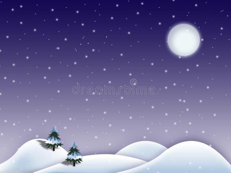 Paysage de l'hiver illustration de vecteur