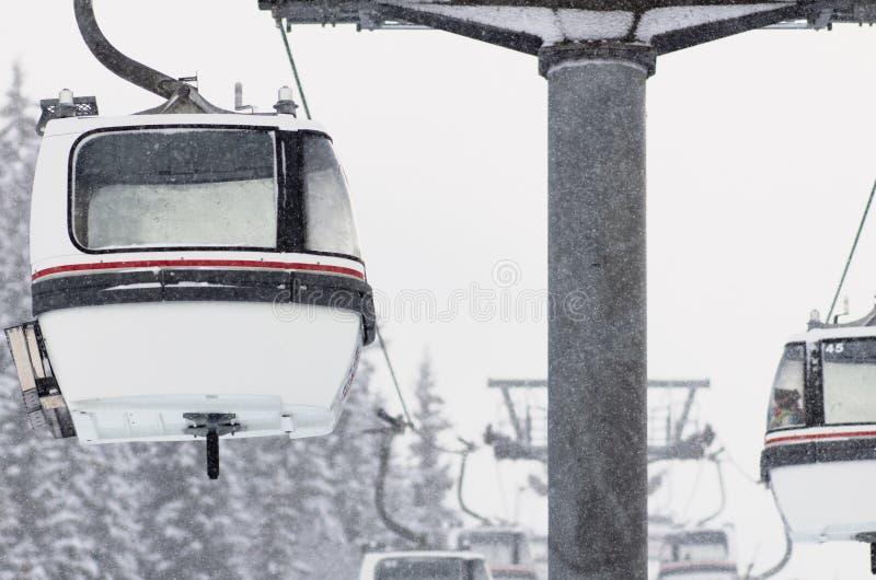 Paysage de l'hiver, Meribel, France photographie stock libre de droits