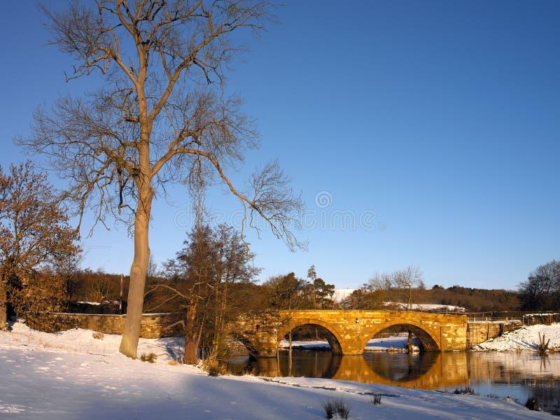 Paysage de l'hiver - Yorkshire du nord - Angleterre images libres de droits