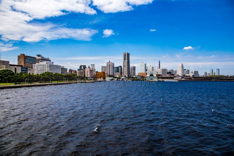Paysage de l'horizon de Yokohama photos libres de droits