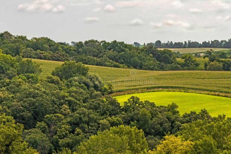 Paysage de l'Iowa photographie stock libre de droits