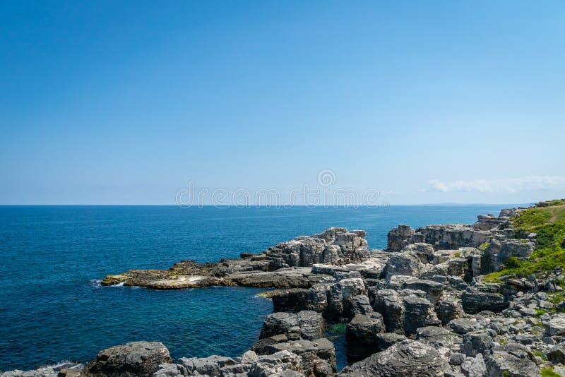 Paysage de la Mer Noire belle mer vue en Turquie - de la Mer Noire photographie stock libre de droits