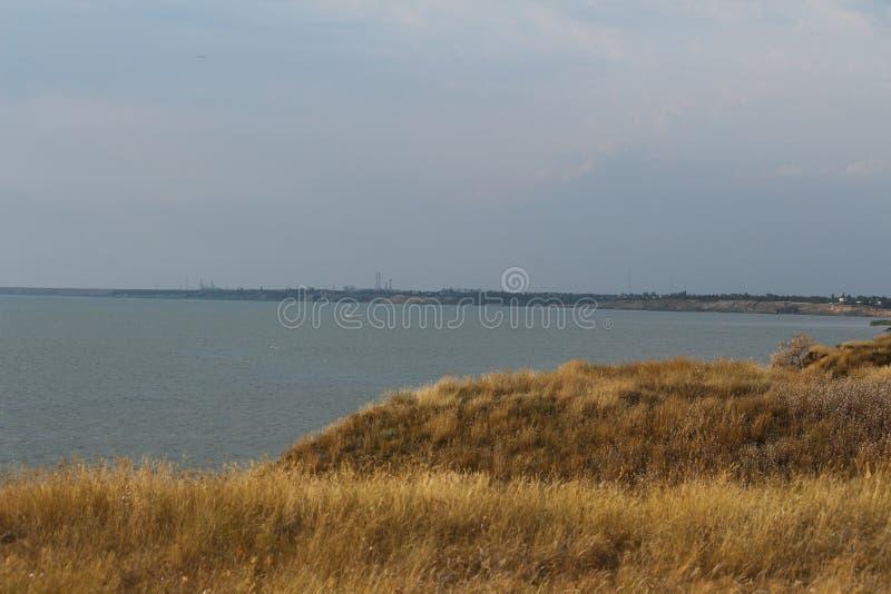 Paysage de la Mer Noire sur les sud de l'Ukraine Paysage marin près à Mykolaiv image libre de droits