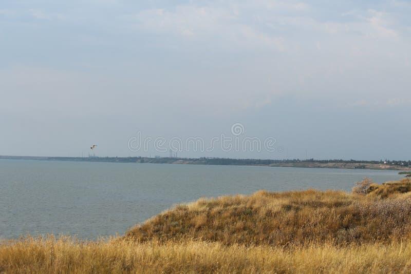 Paysage de la Mer Noire sur les sud de l'Ukraine Paysage marin près à Mykolaiv photographie stock