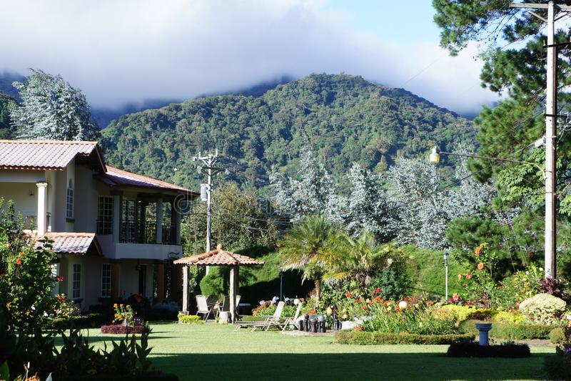 Paysage de la pièce de montagne dans la région Centre du Panama photographie stock libre de droits